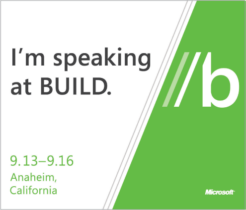 I'm speaking at BUILD