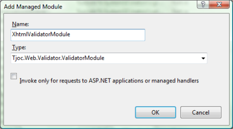 Adding a Managed Module
