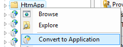 Convert To Application