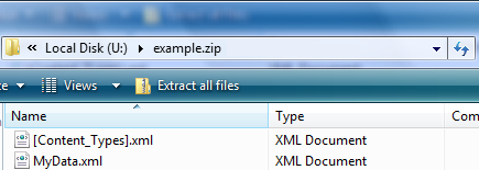 MyData Package in Windows Explorer