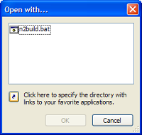 Notepad2's Open with dialog