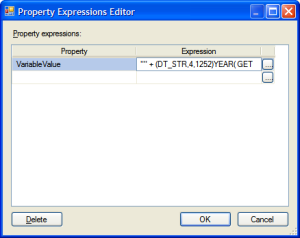 The Property Expressions Editor