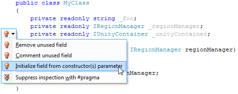 Initialize Field from Constructor(s) Parameter