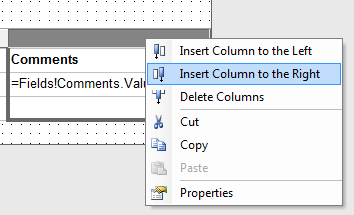 Insert a new column