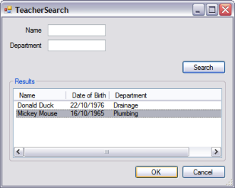 The Teacher Search Form