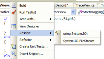 Visual Studio 2005's resolve function