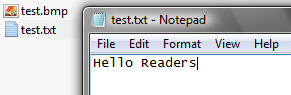 Hello Readers inside test.txt